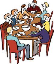 Weitere mit am Tisch Sitzer