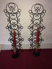 Wand-Kerzenhalter Schmiedeeisen 2 Kerzen