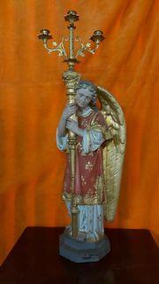 große Kirchenfigur Heiligenfigur antik alte