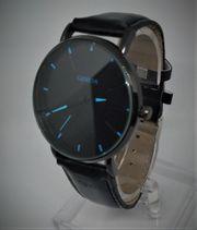 GENEVA Herrenuhr Quarz - Leder Armband