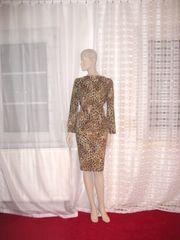 Damenkleid im Leo Print Gr