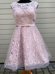 Etuikleid Cocktailkleid Abendkleid Spitzenkleid rosa
