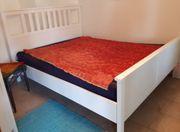 Doppelbett Holz weiß