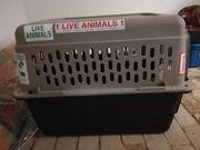 Tiertransportbox Flugbox mit Zubehör