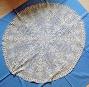 Vintage Decke Deckchen Strickschrift Beige