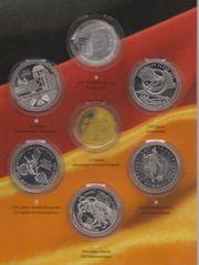 5 x 10 Euro Gedenkmünzen