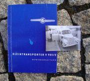 Betriebsanleitung Kleintransporter Barkas Framo V901