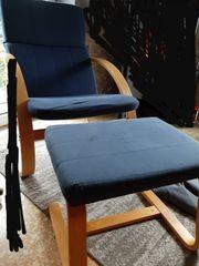 Swingsessel Sessel Swingsessel mit Hocker