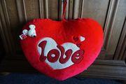 Herz Plüsch gross Geschenk Idee