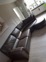 Couch Sofa Sitzgarnitur braun Natuzzi
