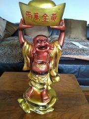 Chinesische lachende Buddha Figur Groß