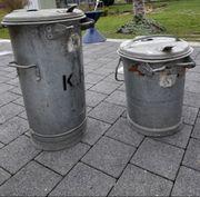 Abfall- Aschentonne zink