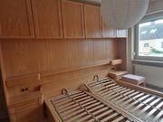 Ehebett mit Schrankwand und passender