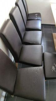 6 Stühle in dunkel braun