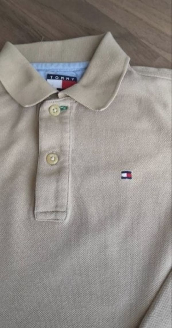 purchase cheap f6b7b 6016e original Tommy Hilfiger Poloshirt langarm, beige, Größe 116 ...