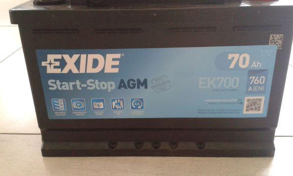 Exide 096 AGM Autobatterie 70