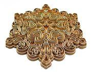Mandala 3D Schönhet Pur Wand