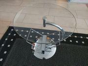 Beistelltisch Glastisch Durchmesser 50 cm