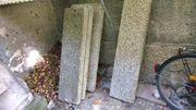 2 Treppengeländer verzinkt mit Waschbetonstufen