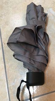 Derby Regenschirm Taschenschirm Schirm Grau
