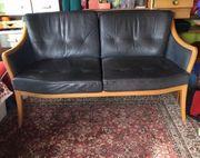 Zweier Sofa echtes Leder