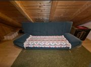 Samt grüne Sofa Couch Zweiersitzer