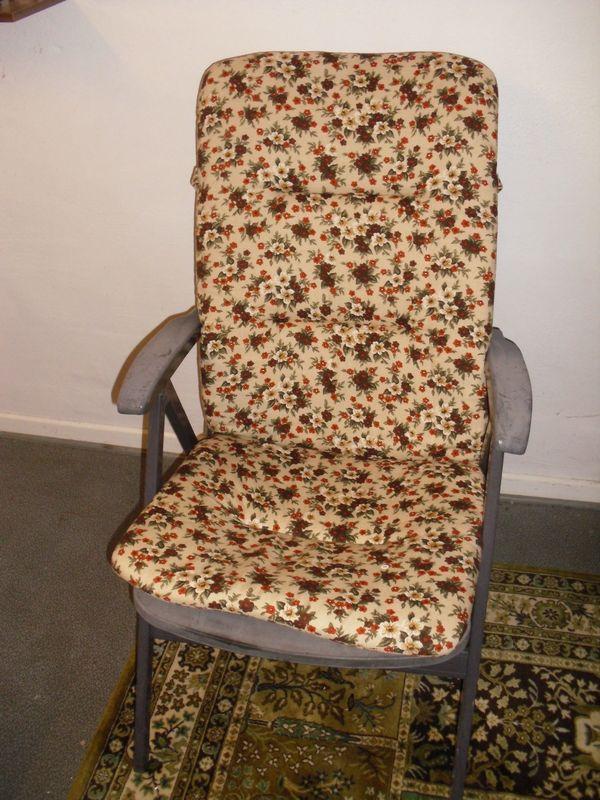 4 Klappstühle Mit Auflagen Balkonstühle Gartenstühle In