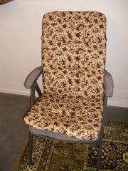 4 Klappstühle mit Auflagen Balkonstühle
