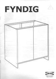 Ikea Fyndig Unterschrank mit Türen