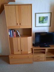 Wohnzimmerschrank Couch Sessel Tisch Phonowagen