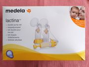 Medela Lactina Dopppelpumpset gebraucht sterilisiert