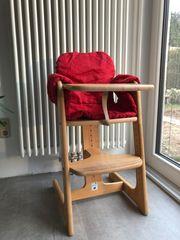 Kinderhochstuhl Tipp-Topp mit 2 Sitzkissen