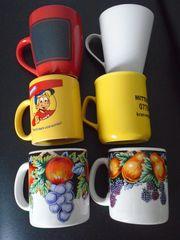 6 Kaffee- Teetassen neu und