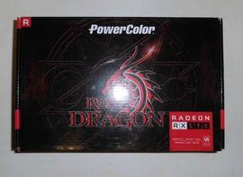 PowerColor Radeon RX590 Red Dragon 8GB Grafikkarte, 8GB GDDR5 VRAM, DVI, HDMI, DP, noch verpackt