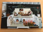 Puppenstube mit Küche Wohnzimmer und