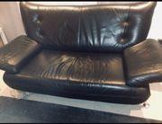 Leder Couch schwarz Echtes Leder