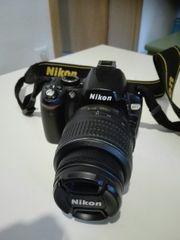Nikon D60 Spiegelreflex Digitalkamera inkl
