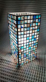 Tischlampe mit Glasmosaik Handarbeit