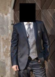 Hochzeitsanzug Größe 54 Blau