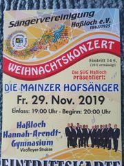 Tickets-Mainzer Hofsänger- Haßloch-29 11 19