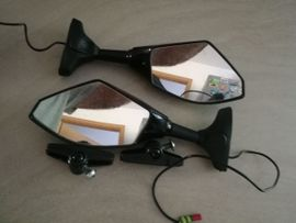 kawasaki Yamaha Honda Ducati BMW Suzuki KTM Motorrad-spiegel mit LED-Blinker