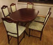 Esstisch ausziehbar mit 6 Stühle