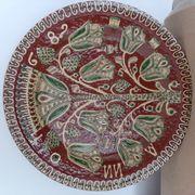 Keramikteller Handmalerei