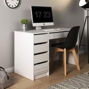 Schreibtisch MADA Weiß Hochglanz Computertisch