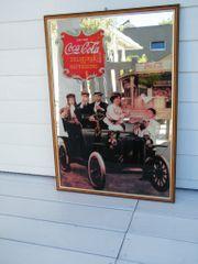 Nostalgischer Spiegel mit Coca Cola
