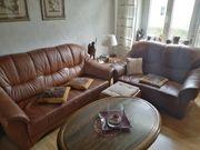 Leder Couch braun