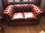 Chesterfield 2Sitzer Leder-Sofa
