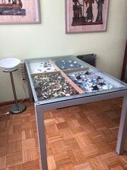 Designer Tisch Glastisch Eßtisch separate