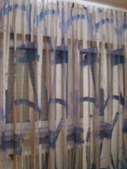 Gardinen Ausbrenner weiß blau