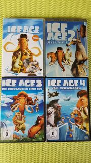 ICE AGE DVDs 1 - 4